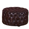 Home Loft Concept Voyage Jordan Leather Cocktail Ottoman