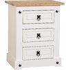 Home Loft Concept Angelina 3 Drawer Bedside Table