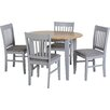 Home Loft Concept Oxford Extendable Dining Table and 4 Chairs