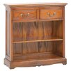 Hazelwood Home Berkshire Low 75cm Standard Bookcase