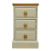 Hazelwood Home Dania 3 Drawer Bedside Table