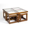 Hazelwood Home Diner 5-Piece Coffee Table Set