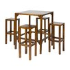 Hazelwood Home Diner 5-Piece Bar Table Set