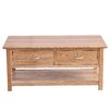Hazelwood Home Coffee Table with Magazine Rack