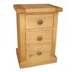 Hazelwood Home Cotswold 3 Drawer Bedside Table