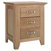 Hazelwood Home 3 Drawer Bedside Table