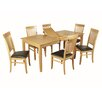 Hazelwood Home Denton Dining Table and 6 Chairs