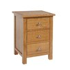 Hazelwood Home Frinton 3 Drawer Bedside Table