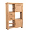 Hazelwood Home Torquay Solid Oak Display Cabinet