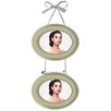 Hazelwood Home Ribbon Hanging Double Photo Frame