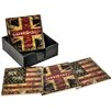 Hazelwood Home 5 Piece London New York Ceramic Coaster Set