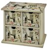 Hazelwood Home 4 Drawer Storage Cabinet