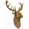 Hazelwood Home Antique Stag's Head Statue