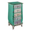 Hazelwood Home Patchwork 5 Drawer Chest