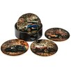 Hazelwood Home 5 Piece Car Round Coaster Set