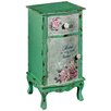 Hazelwood Home Roses 1 Drawer Bedside Table