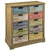 Hazelwood Home Wooden 10 Drawer Storage Cabinet