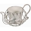 Hazelwood Home Round Teapot Planter