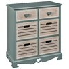 Hazelwood Home 6 Drawer Storage Cabinet