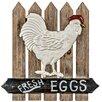 Hazelwood Home Fresh Eggs Wooden Wall Décor