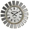 Hazelwood Home Mirror Panelled 68.5cm Wall Clock