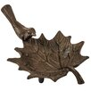 Hazelwood Home Cast Iron Leaf Bird Bath