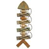 Hazelwood Home Fish 4 Bottle Wall Mount Wine Rack
