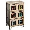 Hazelwood Home Abc 6 Drawer Storage Cabinet