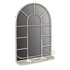 Hazelwood Home Arched Mirror with Shelf