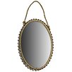 Hazelwood Home Rope Hanging Oval Mirror