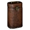 Hazelwood Home Oval Faux Leather Wine Box