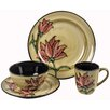 Hazelwood Home Flowers 16 Piece Dinnerware Set