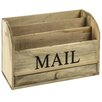 Hazelwood Home Wooden Mail Rack
