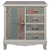 Hazelwood Home Cianna 1 Door 4 Drawer Storage Cabinet