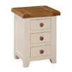 Hazelwood Home Whitby 3 Drawer Bedside Table
