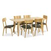 Hazelwood Home Marson Extendable Dining Table and 6 Chairs