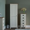Hazelwood Home Milton Compact 1 Door Wardrobe