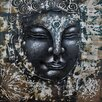 Hazelwood Home Budda Graphic Art Unwrapped on Canvas