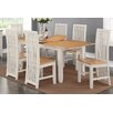Hazelwood Home Fenny Extendable Dining Table and 6 Chairs