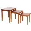 Hazelwood Home Berkshire 3 Piece Nest of Tables