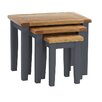 Hazelwood Home Oakham Expressions 3 Piece Nest of Tables