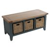 Hazelwood Home Oakham Expressions Storage Entryway Bench
