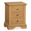Hazelwood Home Surrey 3 Drawer Bedside Table