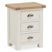 Hazelwood Home Forto 3 Drawer Bedside Table