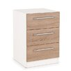Hazelwood Home Esher 3 Drawer Bedside Chest