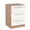 Hazelwood Home Morley 3 Drawer Bedside Chest