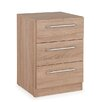 Hazelwood Home Halstead 3 Drawer Bedside Chest