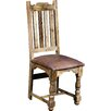 Hazelwood Home Alnwick Royale Leather / Solid Wood Dining Chair