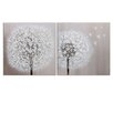 Wildon Home Dandelion 2 Piece Art Print Wrapped on Canvas Set