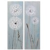 Wildon Home Dandelion 2 Piece Art Print on Canvas